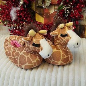 Cat & Jack Giraffe Slippers Size 3-5